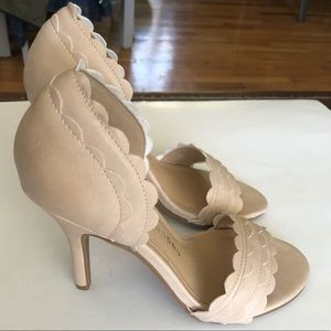 Chinese Laundry Nude Open Toe Pumps Size 6.5 NEW